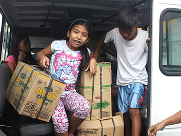 Typhoon-Affected Families in Legazpi Sheltered, Receiving Aid