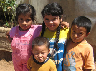 Needy children in Chile